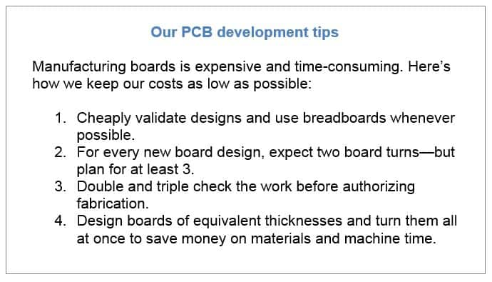 PCB development tips