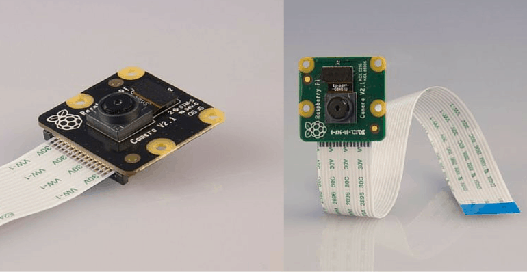 Raspberry Pi Visible light and infrared cameras