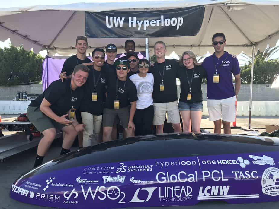 Sierra Circuits Sponsored and Met UW Hyperloop at SpaceX