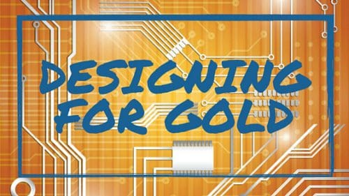 Pcb Designing for Gold with Gold background