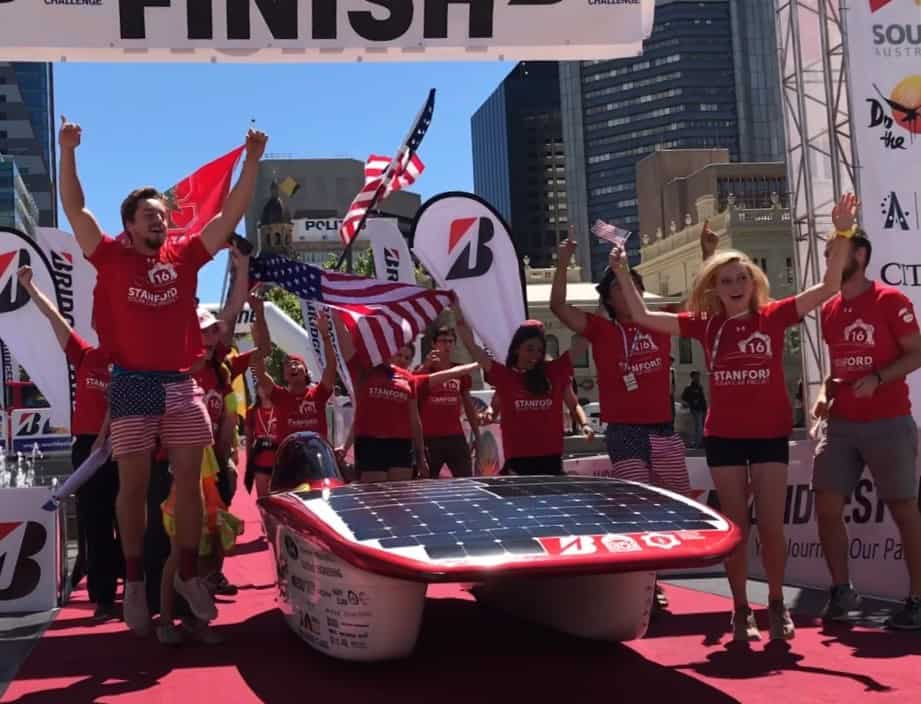 Stanford Solar Car Crossed the Finish Line of the World Solar Challenge!
