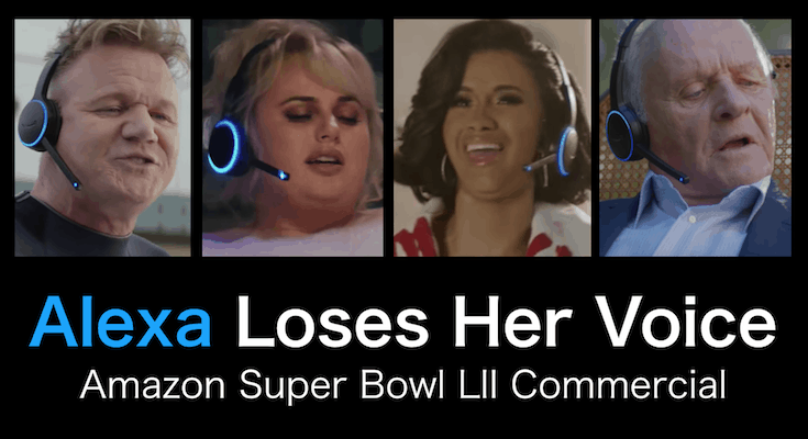 Amazon: Alexa Loses her Voice and Wins the Super Bowl