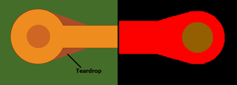 teardrop annular ring