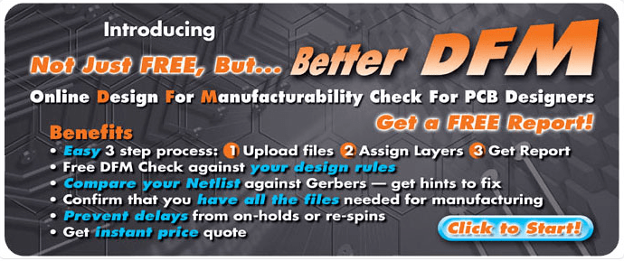 Better DFM for PCBs | Online Design For Manufacturability Check Tool