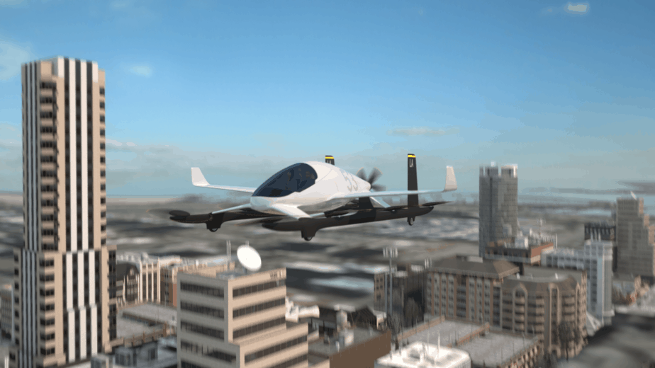 Aurora eVTOL flying car