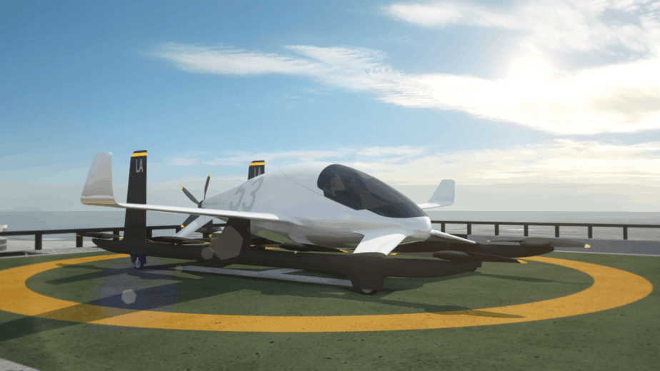 eVTOL flying car vertiport