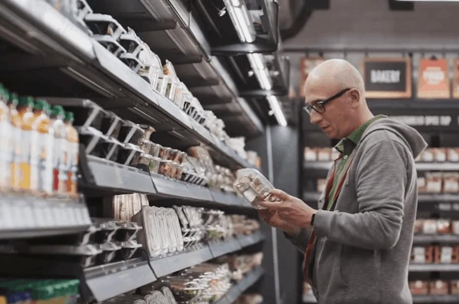 Amazon Go food selection