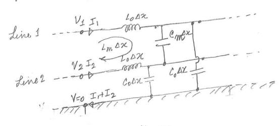 Circuit model differential pair