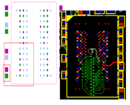 Placement of capacitor in DDR