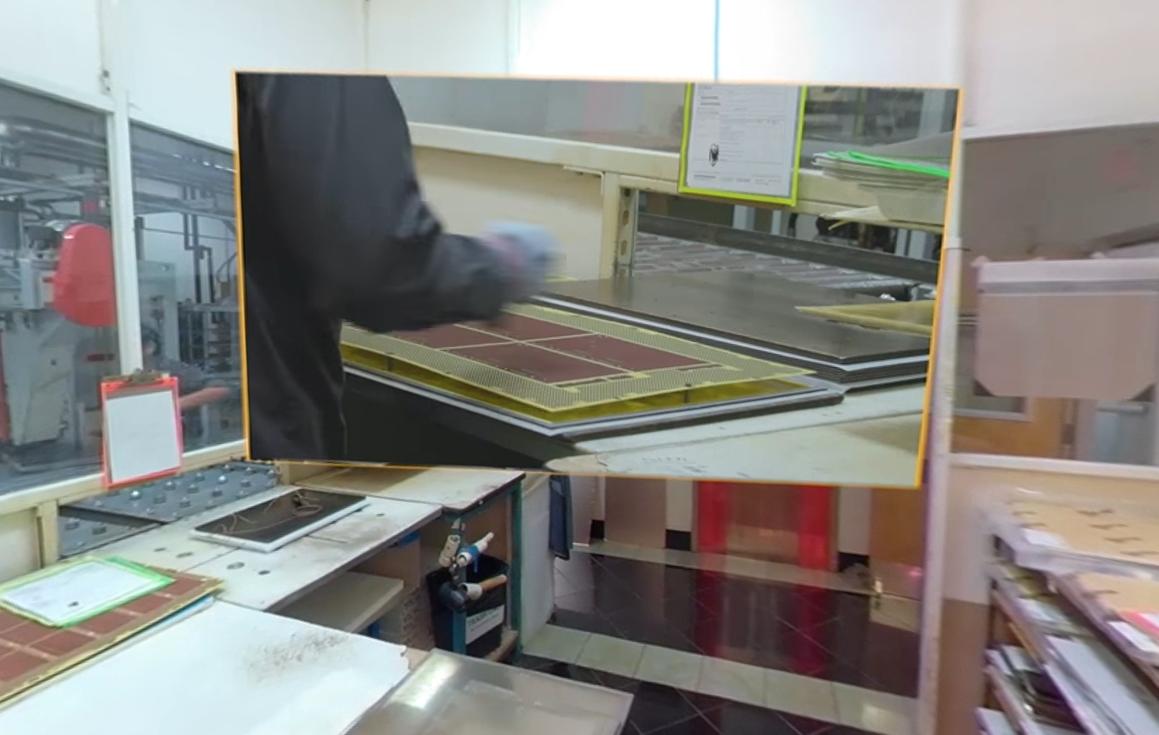 Laminating PCB at Sierra's PCB lamination lab