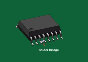 Electrical Bridges formed due to excess solder