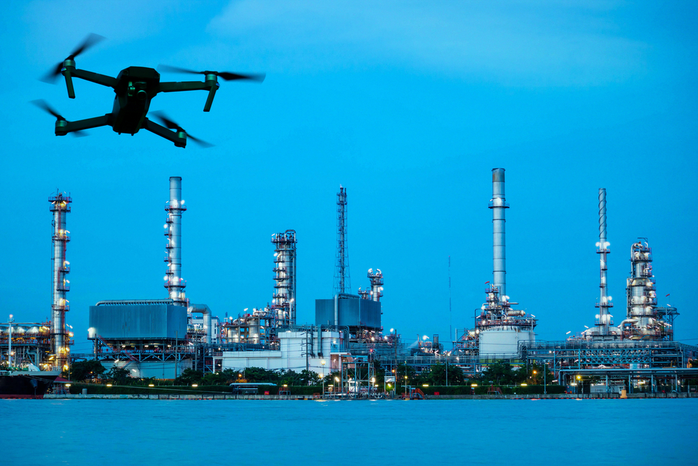 Industrial inspection by a Drone
