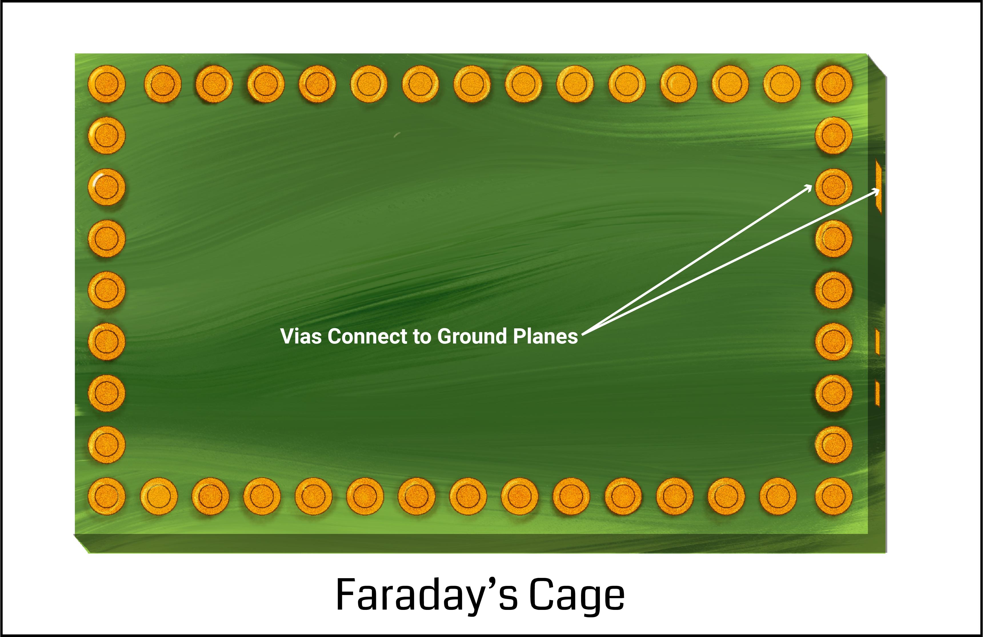 Noise isolation using Faraday's cage