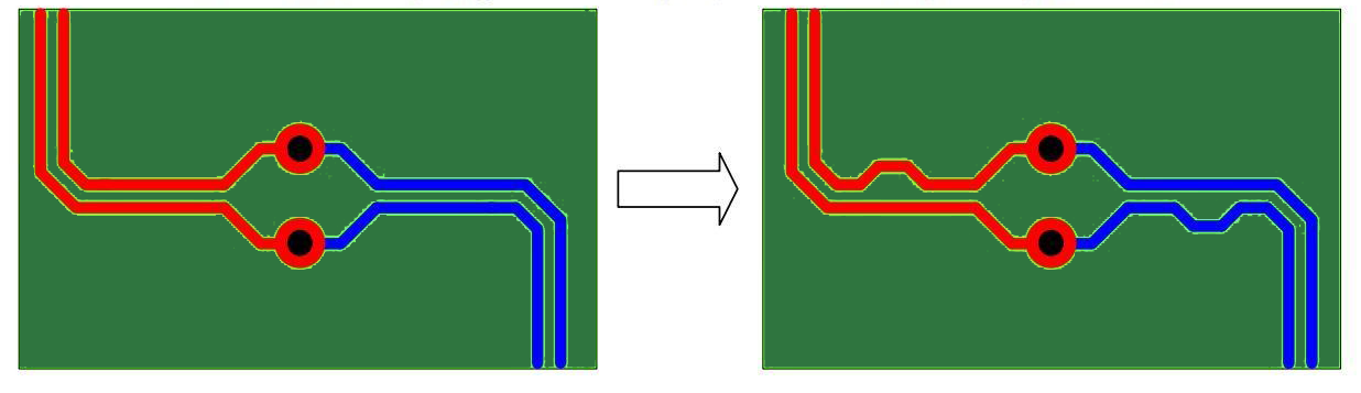 Compensating Trace Length Differences in high speed circuits