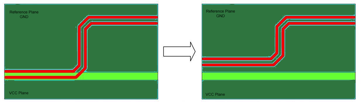 Routing Away from PCB Edges