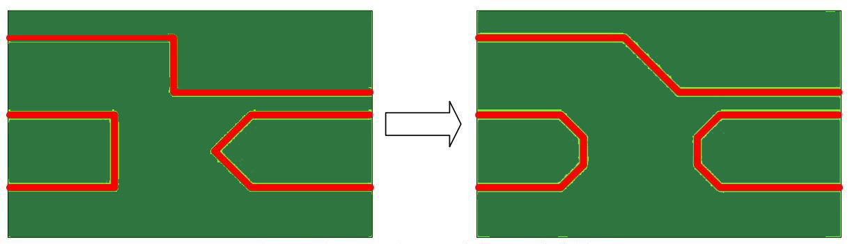 Trace bends