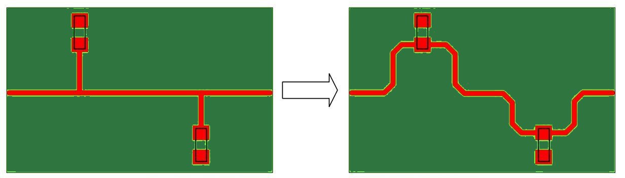 Stub traces in a PCB cause reflections