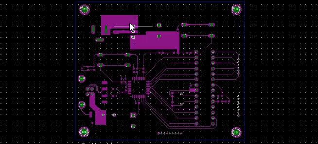 Gerber data of a PCB on gerber viewer