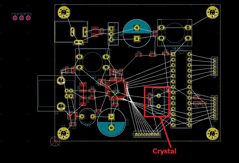 placing crystal in kicad