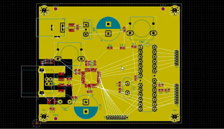 How to route ground layer in Kicad