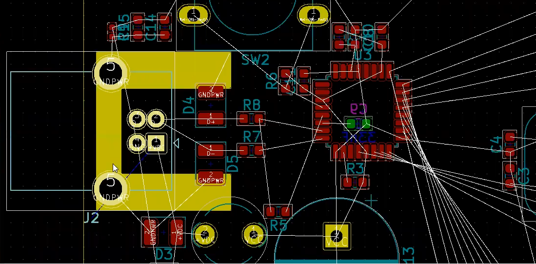 How to route solid ground in Kicad