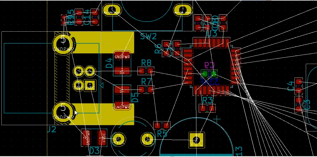 How to route ground in Kicad