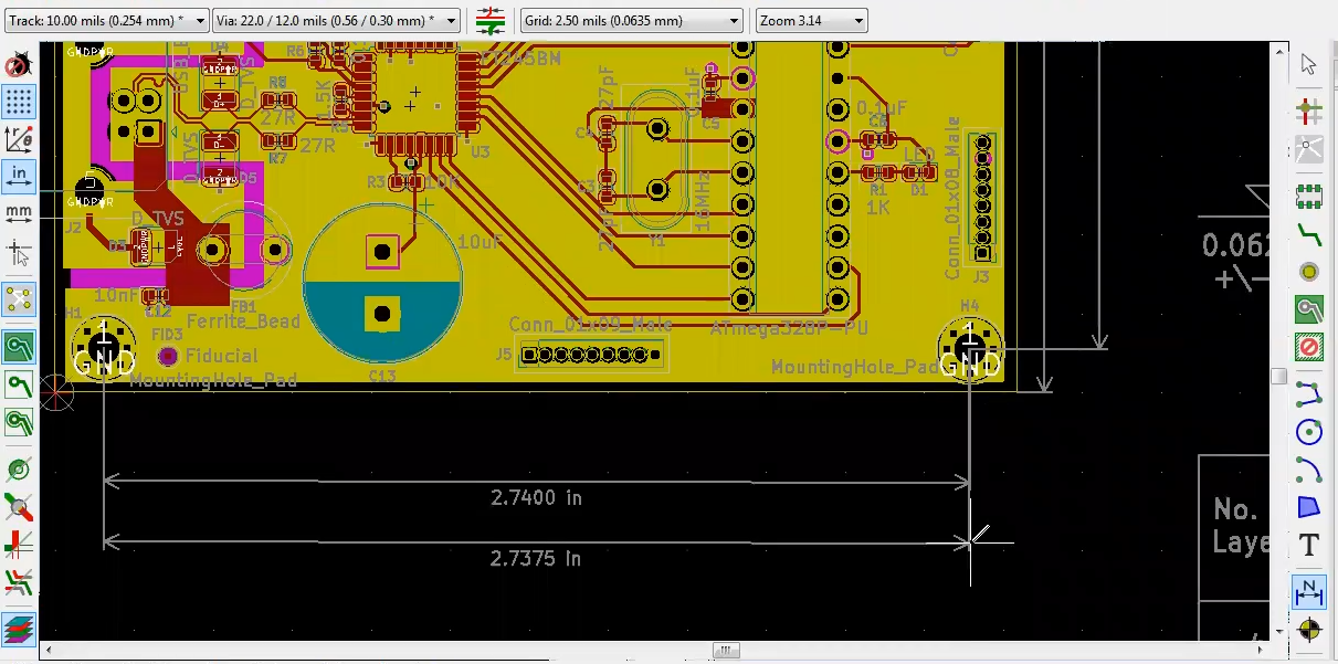 How to add dimension in Kicad PCB design