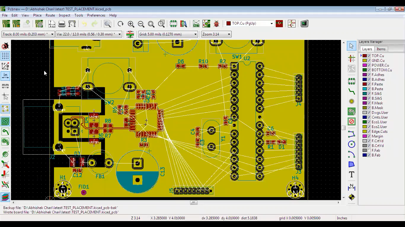 KiCad Critical Routing