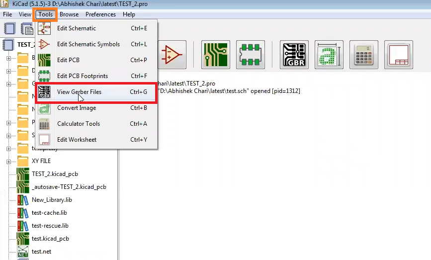 How to use gerbview in Kicad