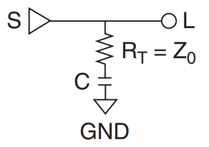 Series-RC parallel termination for impedance matching