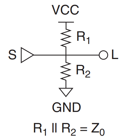 Thevenin termination for impedance matching