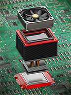 Cooling fans for PCB thermal management
