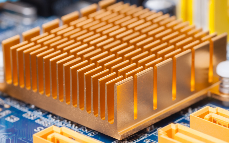 Heat sink for rapid heat dissipation in PCB