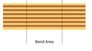 Perpendicular flex traces