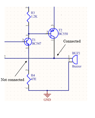 Connection of wires in PCB schematic