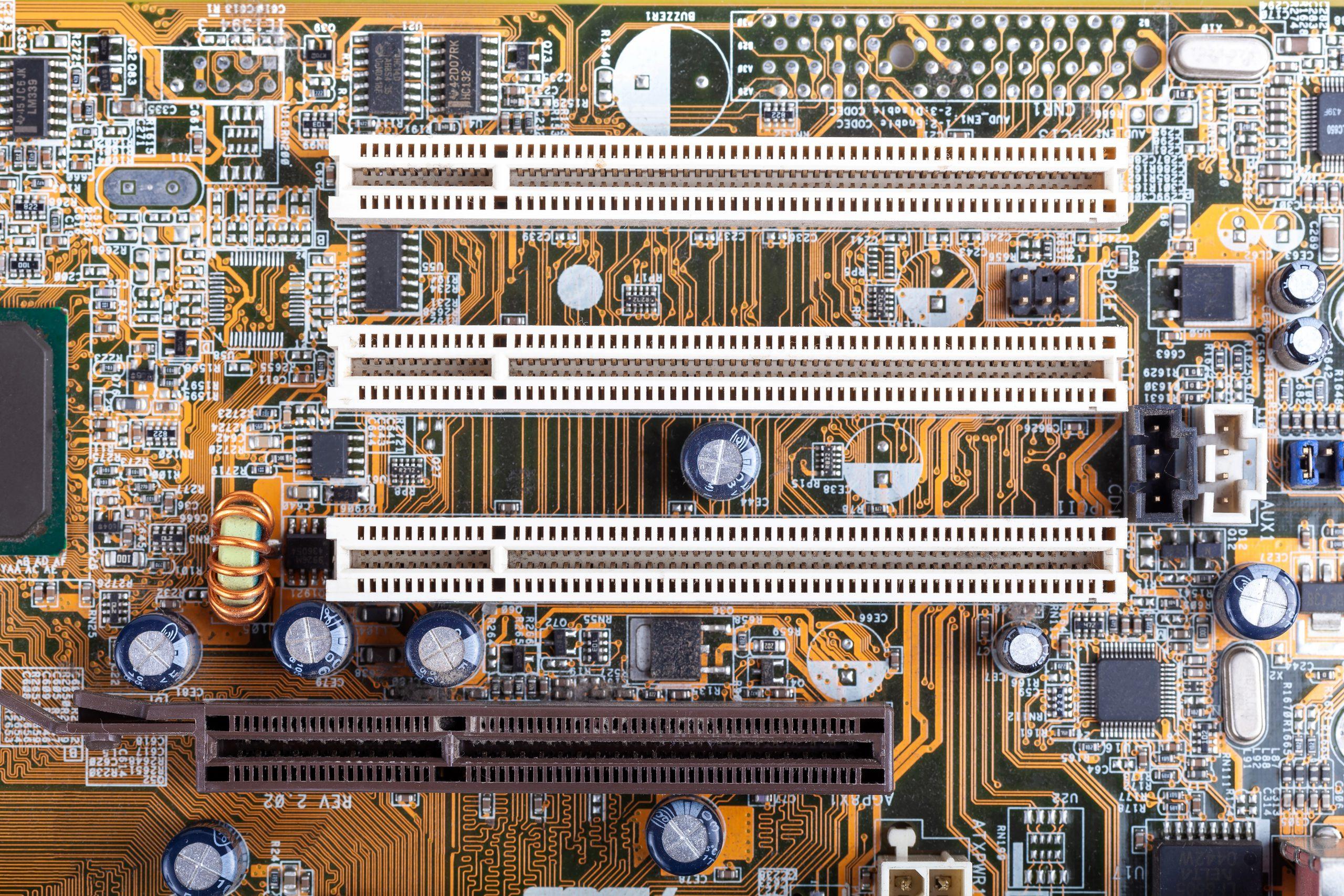 PCIe slots on motherboard