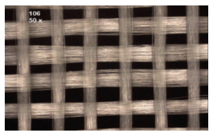 Glass fiber weave