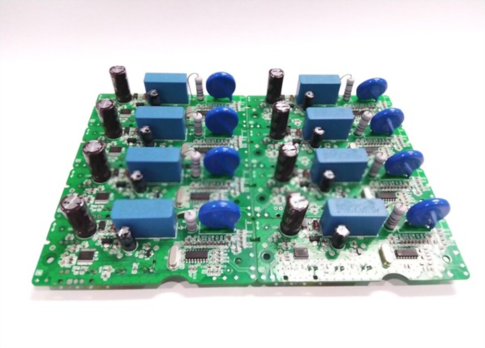 A masked PCB with masking boots