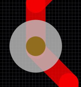 Display of through hole via