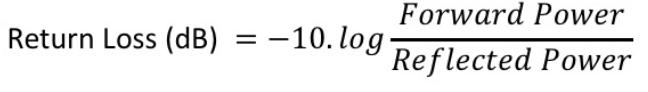 Return Loss formula in log terms