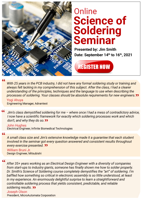 Soldering Seminar by Jim Smith Sept 2021