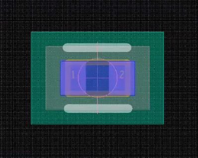 PCB footprint after addition of all layers in Allegro