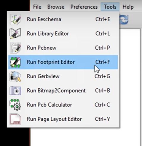 Footprint editor in KiCad