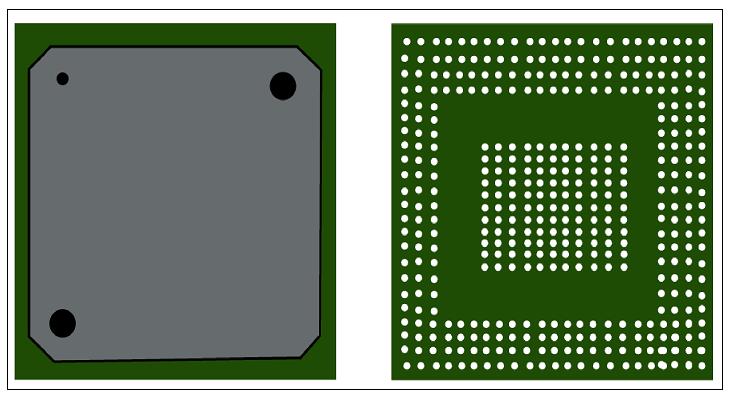 BGA component land-pattern
