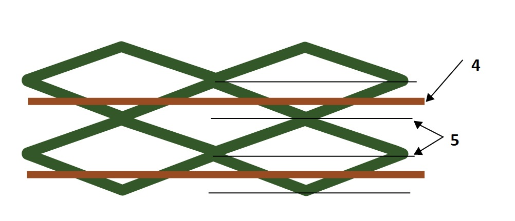 Cross hatch intersections for crosstalk reduction